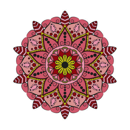 Flower Mandala. Vintage decorative elements. Oriental pattern, vector illustration. Illustration