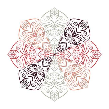 Flower Mandala. Vintage decorative elements. Oriental pattern, vector illustration. 矢量图像