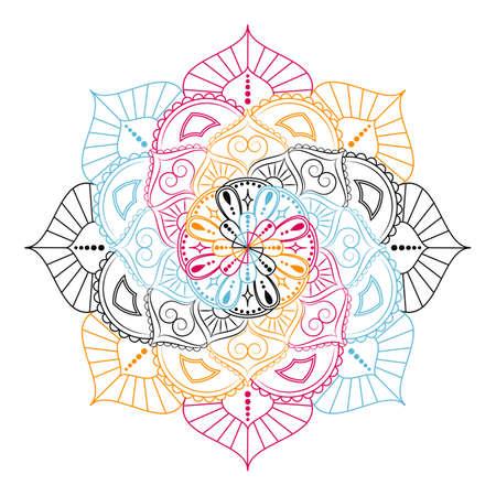 Flower Mandala. Vintage decorative elements. Oriental pattern, vector illustration. 일러스트