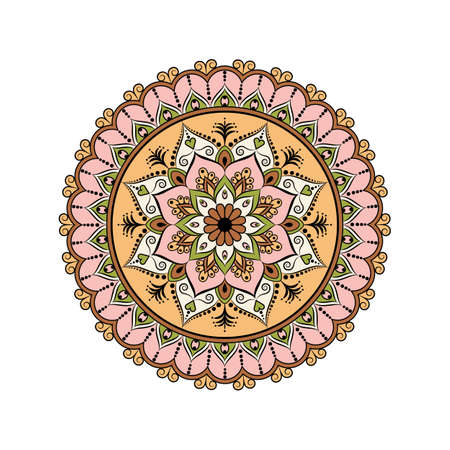 Flower Mandala vintage decorative elements. Oriental pattern, vector illustration. Islam, Arabic, Indian, moroccan,spain, turkish, pakistan, chinese, mystic and ottoman motifs.