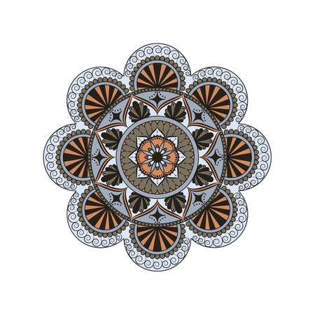 Flower Mandala vintage decorative elements. Oriental pattern, vector illustration. Islam, Arabic, Indian, moroccan,spain, turkish, pakistan, chinese, mystic and ottoman motifs.