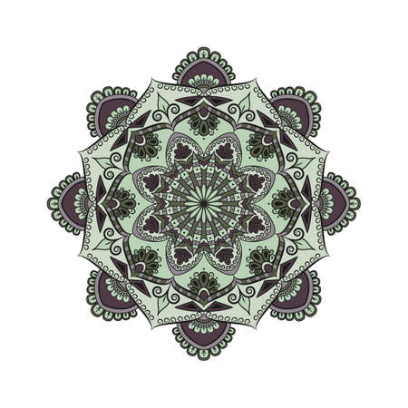 Flower Mandala. Oriental pattern, vector illustration. Islam, Arabic, Indian, moroccan,spain, turkish, pakistan, chinese, mystic, ottoman motifs.  Illustration