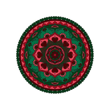 Mandala. Round ornament floral pattern. Decorative element. Oriental motif.
