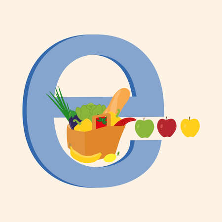Online grocery shopping or e-commerce concept.
