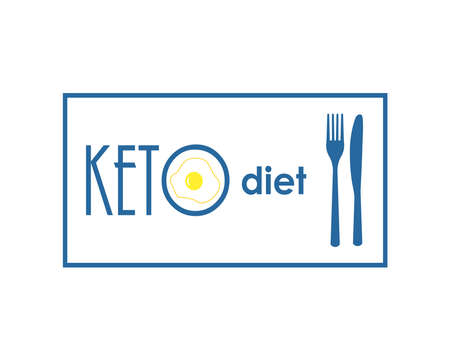 Keto diet. Illustration for banner or other promotional materials. Stok Fotoğraf - 132021366