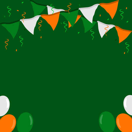 St.Patrick s Day. Festive background for St. Patricks Day for the design of flyers, greeting cards, invitation cards. Vector illustration.