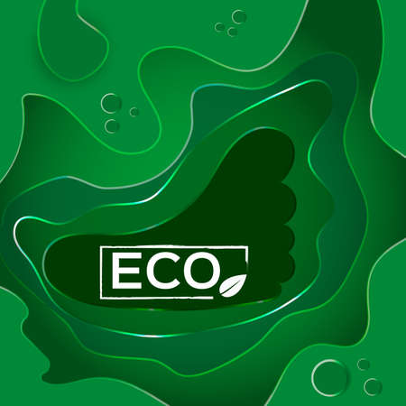 Abstract background of green shades. Layout for business presentations and banners. Ilustração