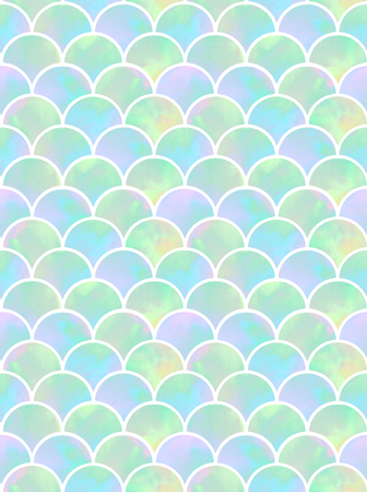 watercolor rainbow scales of mermaid. seamless pattern 版權商用圖片 - 103476083