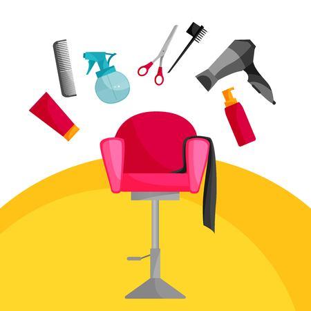 hairdressing icon design, vector illustration