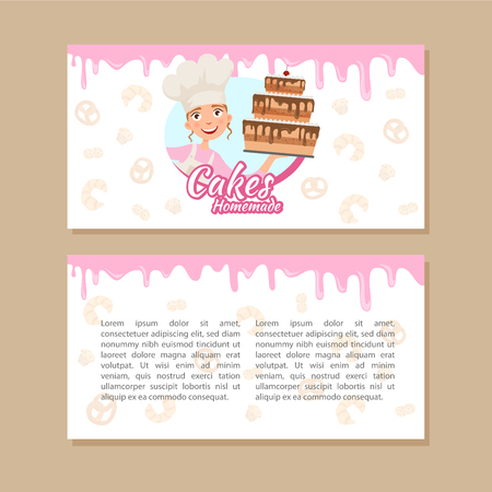 Flyer template for a home bakery