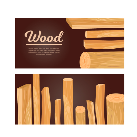 Design flyers with wood.
