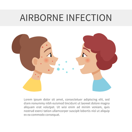 air-apel infections. Transmission of the disease from one person to another.