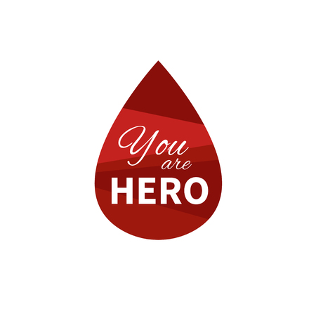 Blood donation vector.A drop of blood