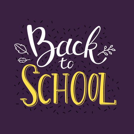 Back to school banner. Hand drawing lettering. Typography for greeting cards, posters, banners.