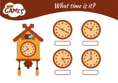 Telling time worksheet. write the time shown on the clock. Cuckoo-clock