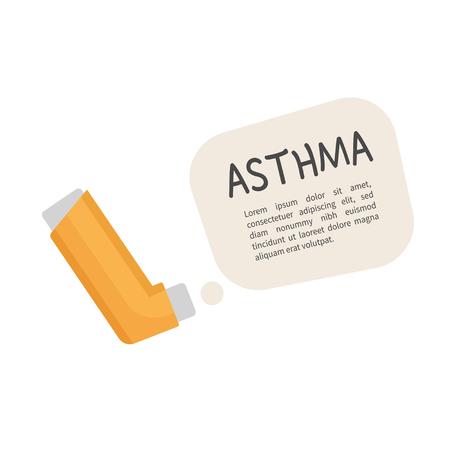 Illustration of an inhaler from asthma. Illustration