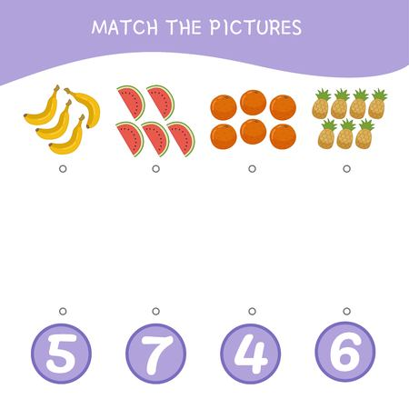 Counting educational children game, math kids activity sheet. How many objects task. Cartoon christmas ball.