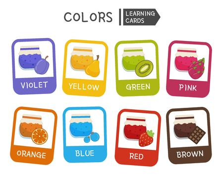 Learn the primary colors. Educational material for children and toddlers. Cartoon jam different colors.
