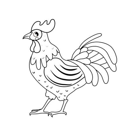 Coloring book for children. Farm animals.