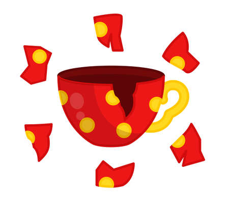 Activity for pre sсhool years kids and toddlers. Find a shard from a mug.