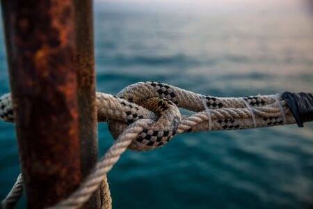 marine ropes at pier