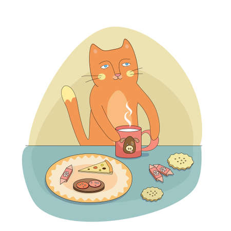 forage: the cat has breakfast