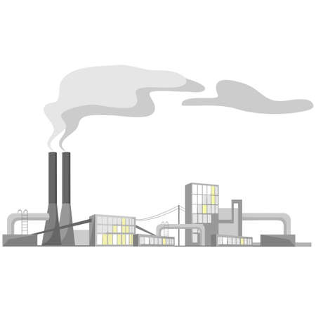 emission: industrial view   Illustration