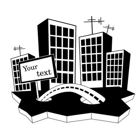 midtown: cities silhouette Illustration