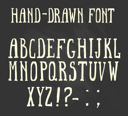 bold: Bold hand-drawn font in the western style. Illustration