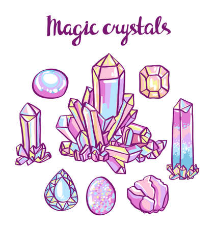 jeweller: Set of magical crystals. Jeweler set