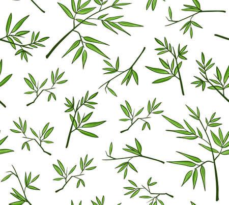 Green bamboo seamless pattern