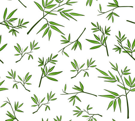 Groene bamboe naadloos patroon Stock Illustratie