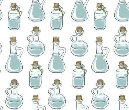 drink me: Seamless pattern with bottles. Vector illustration. Illustration