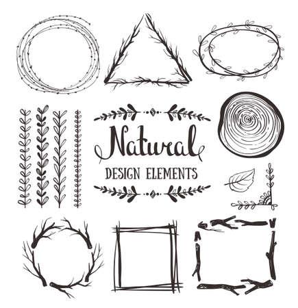 fames: Natural design elements. Forest fames.