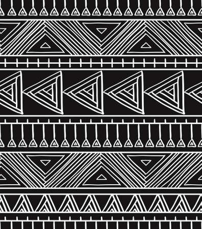 Abstract geometric seamless pattern. Aztec style pattern with triangle and line. Vector illustration.