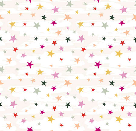Hipster geometric star seamless pattern. Vector star pattern background.