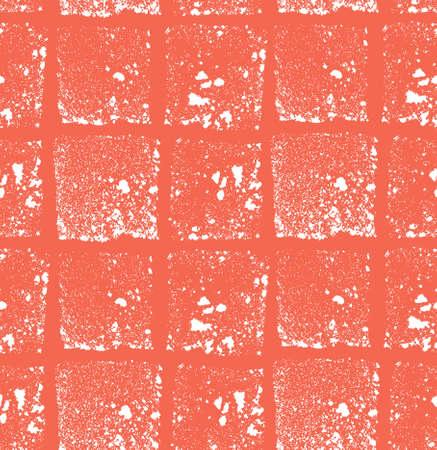 Shaped grunge seamless background. Vector ink pattern. Illustration