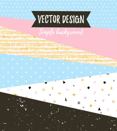 Geometric simple textured universal background. Vector illustration for your design. Ilustracja