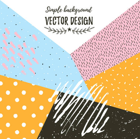 birthday party: Geometric simple textured universal background. Vector illustration for your design. Illustration