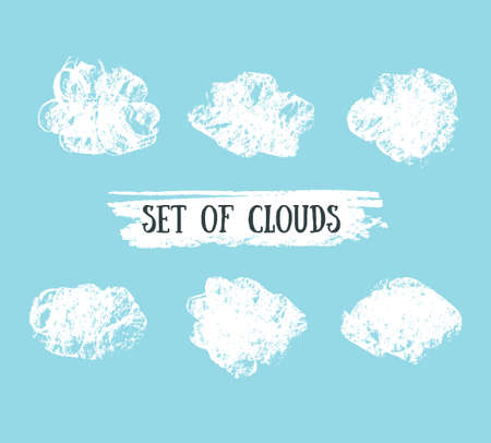 Set of clouds icon. Illustration