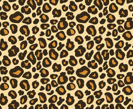 Leopard / cheetah skin seamless pattern, abstract animal background, vector illustration  イラスト・ベクター素材