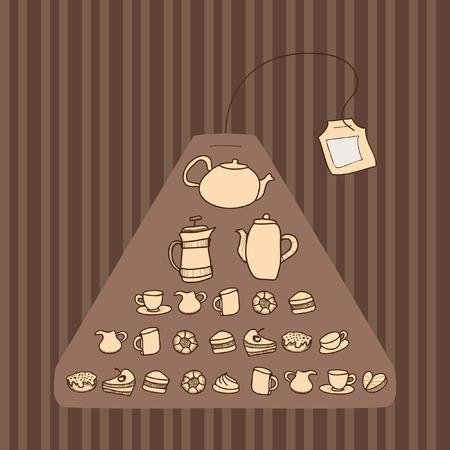 Teabag. Seamless pattern.