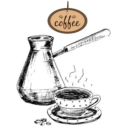 Coffee. Hand drawn illustration Illustration