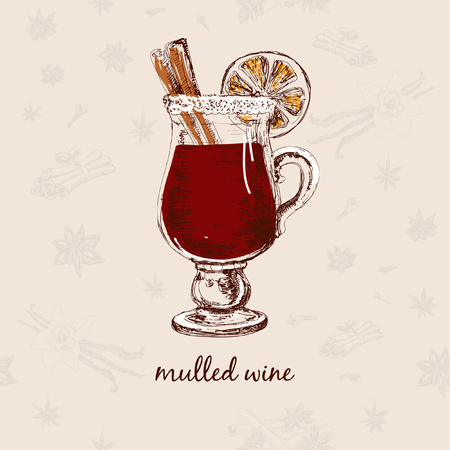 Mulled wine Illustration