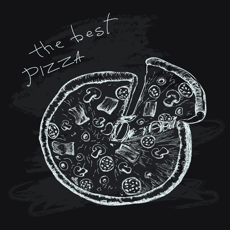 The best pizza Vector