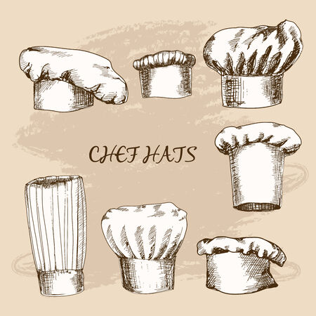 french cuisine: Chef hats.