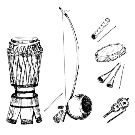 djembe: Collection of musical instruments