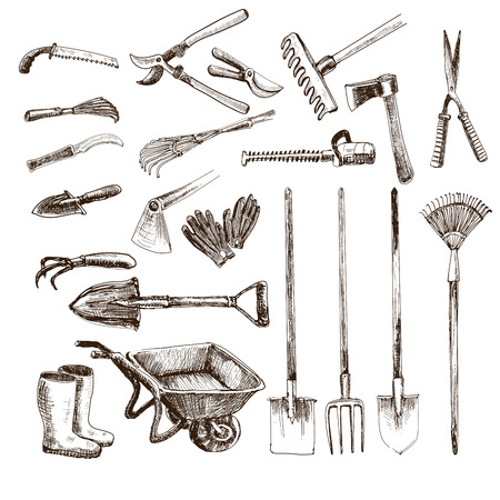 autumn garden: Garden tools