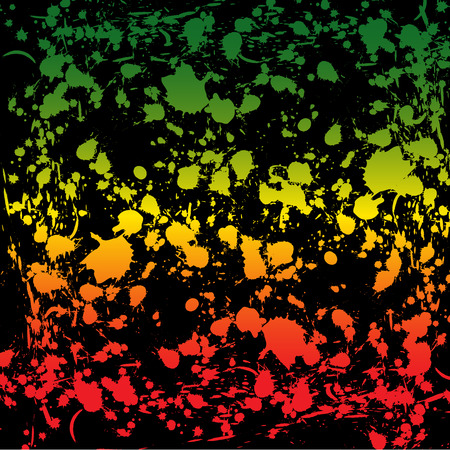 reggae: Abstract background with blots in a reggae color.