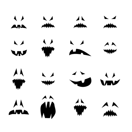 noses: Set of horror smiles. For Halloween or carnival